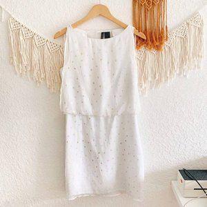 Bisou Bisou Split Back Star Sleeveless Dress